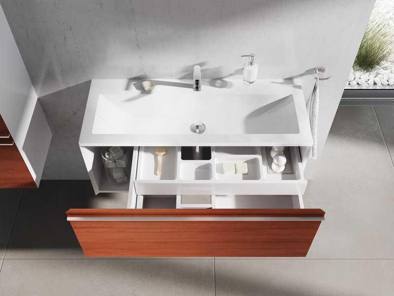 Ravak Szafka podumywalkowa SD Clear 1000 biała/czereśnia X000000760