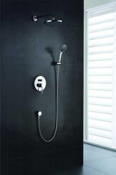Blue Water Denver zestaw prysznicowy podtynkowy z deszczownicą i prysznicem chrom DEN-ZKP.150C
