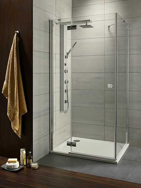 Kabina prysznicowa kwadratowa Radaway  Almatea KDJ 80x80 cm, lewa, szkło Intimato wys. 195 cm. 32112-01-12NL
