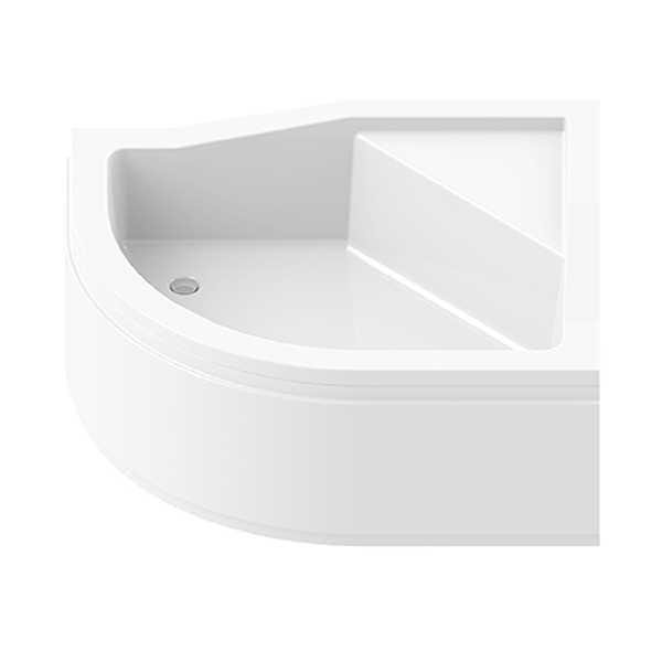 New Trendy | Obudowa do brodzika MAXIMA z podwyższonym siedziskiem 100 x 80 x 38,5 cm 0-0146