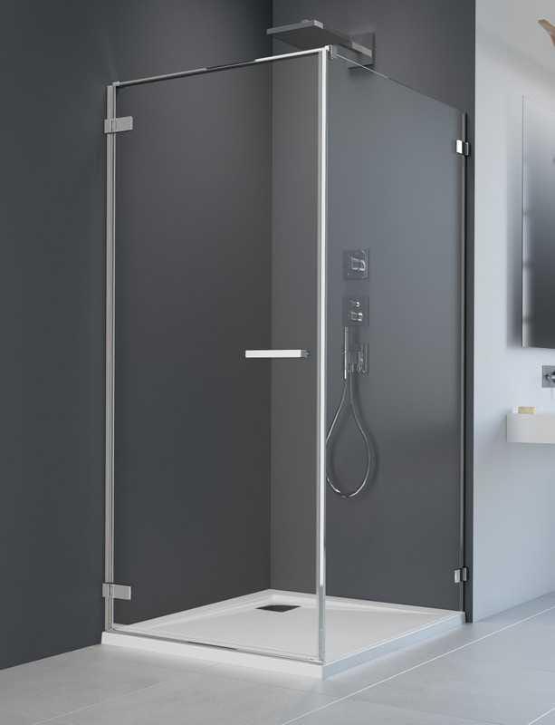 Kabina prysznicowa prostokątna Radaway Arta KDJ I drzwi 80 lewe x ścianka 100 szkło przejrzyste wys. 200 cm, 386081-03-01L /386022-03-01