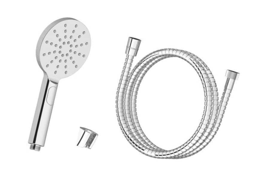 Ravak  zestaw wannowy-wąż 150cm, słuchawka Flat Mgła, uchwyt  904.00 X07S007