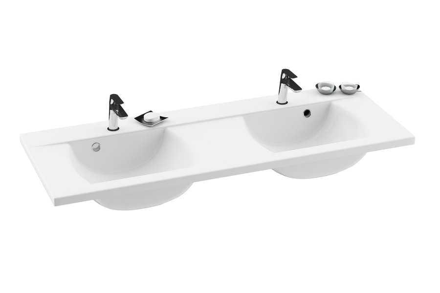 Ravak umywalka podwójna Classic 1300 z otworami  XJD01113000