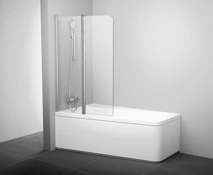 RAVAK 10°(stopni) parawan nawannowy 10CVS2 szer. 100 cm, lewy  Biały+ Transparent   7QLA0103Z1
