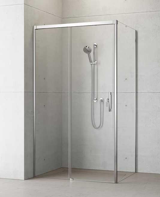 Kabina prysznicowa Radaway Idea KDJ drzwi 160 lewe x ścianka 100 prawa, szkło przejrzyste wys. 205 cm, 387046-01-01L/387052-01-01R