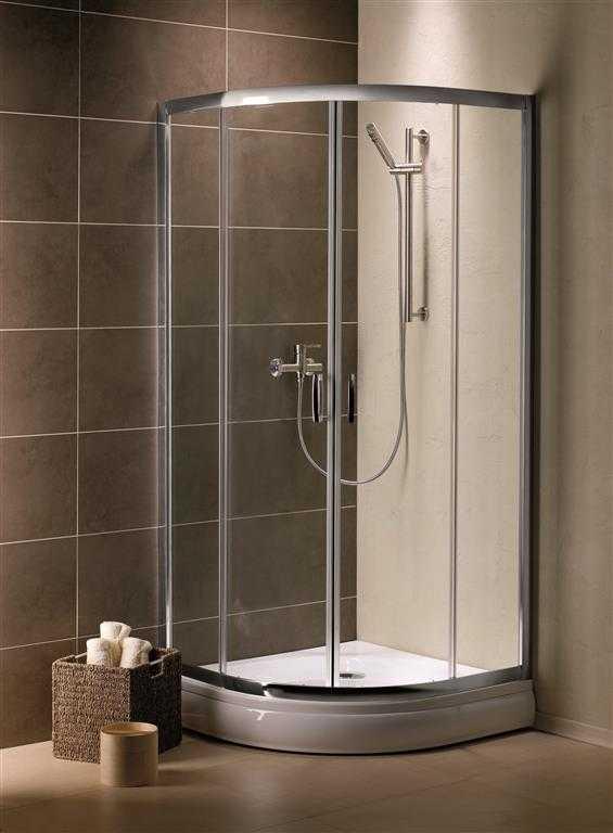 Kabina prysznicowa półokrągła Radaway Premium Plus A 80 szkło Satinato wys. 190 cm. 30413-01-02N