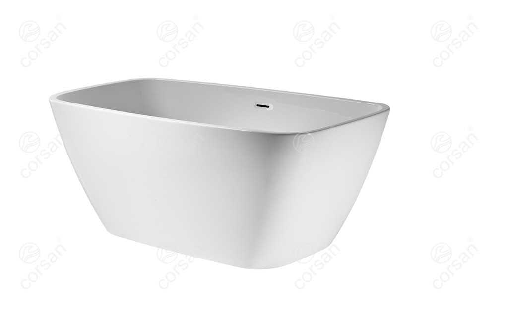 Corsan wanna wolnostojąca akrylowa OKAMA 150x73x59 cm  E021  + syfon klik-klak/ biała